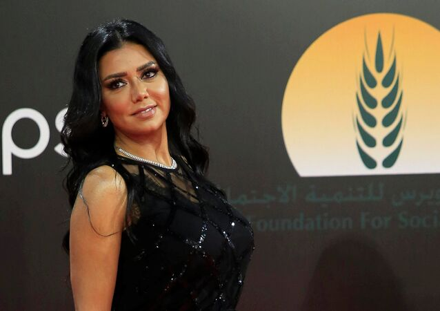 Egyptian actor Rania Youssef attends the closing ceremony of CIFF in Cairo