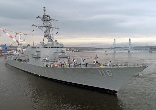 USS Thomas Hudner during acceptance trials.