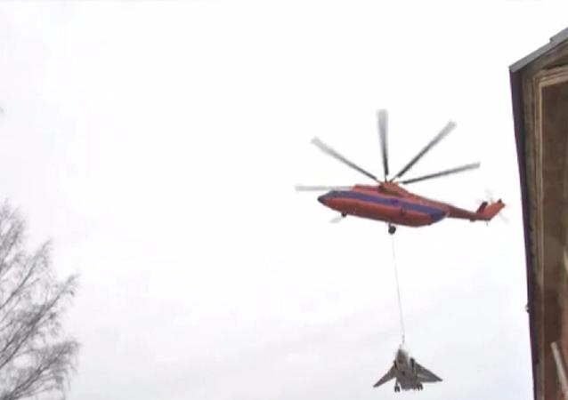 Mi-26 carrying Su-24.