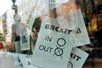 A poster featuring a Brexit vote ballot
