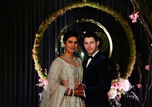 US Singer Nick Jonas and Bollywood Movie Star Priyanka Chopra