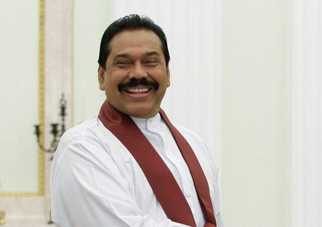 Sri Lankan Prime Minister Mahinda Rajapaksa