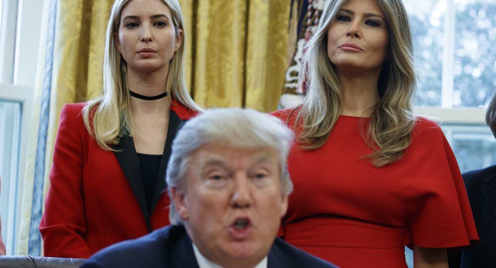 Ivanka, Melania and Donald Trump
