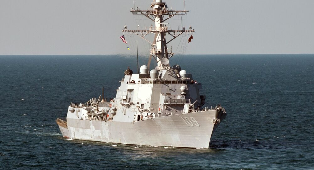 The guided-missile destroyer USS Jason Dunham (DDG 109) operates in the Black Sea during Exercise Sea Breeze 2012
