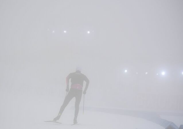 Biathlon. The first stage of the World Cup. Men Individual race