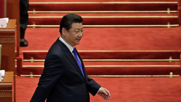 Chinese President Xi Jinping arrives for the opening of the annual full session of the National People's Congress - Sputnik International