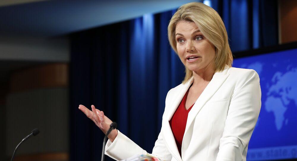 Heather Nauert, portavoz del Departamento de Estado de EEUU, foto de archivo