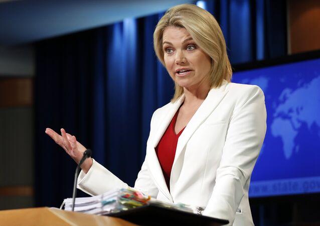 State Department spokeswoman Heather Nauert