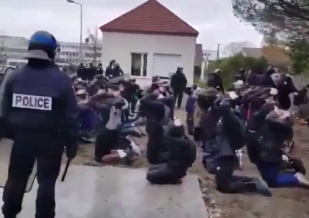 Riot Police arrest Hundreds of Students in France looks like an Execution by firing squad!!