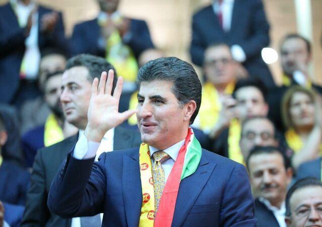 KRG PM Nechrivan Barzani attends a rally