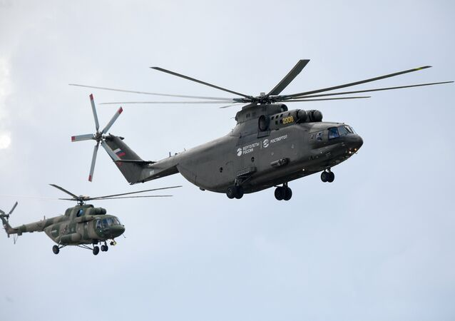 Mi-26 and Mi-171 helicopters