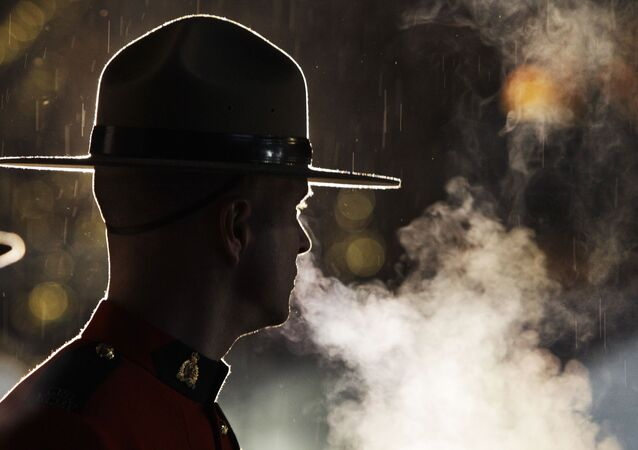 An officer of the Royal Canadian Mounted Police