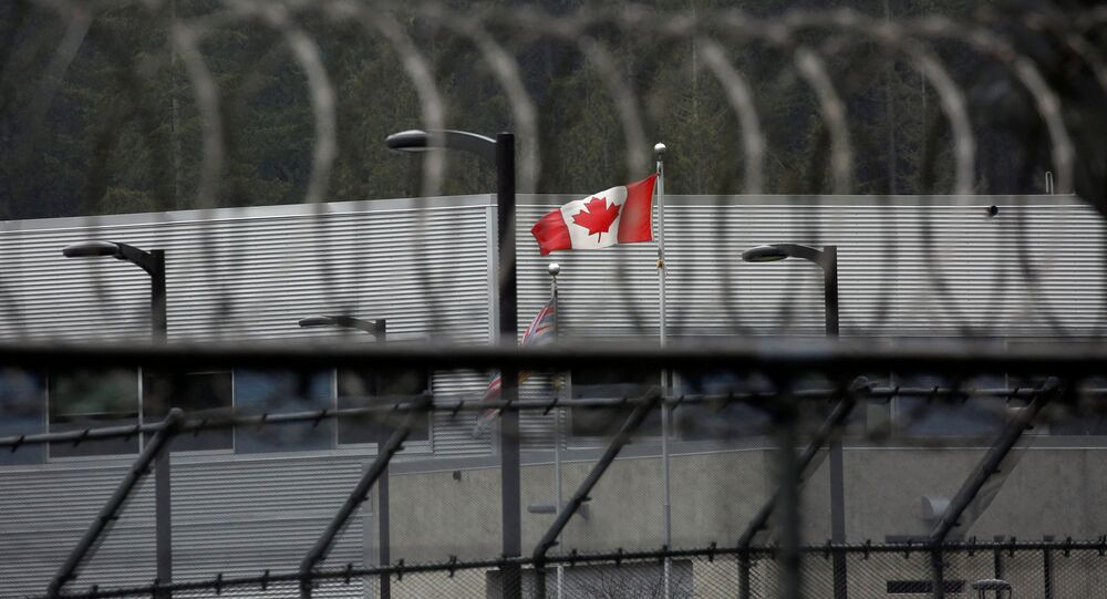 A Canadian flag flies outside of the Alouette Correctional Centre for Women, where Huawei CFO Meng Wanzhou is being held on an extradition warrant, in Maple Ridge, British Columbia, Canada December 8, 2018