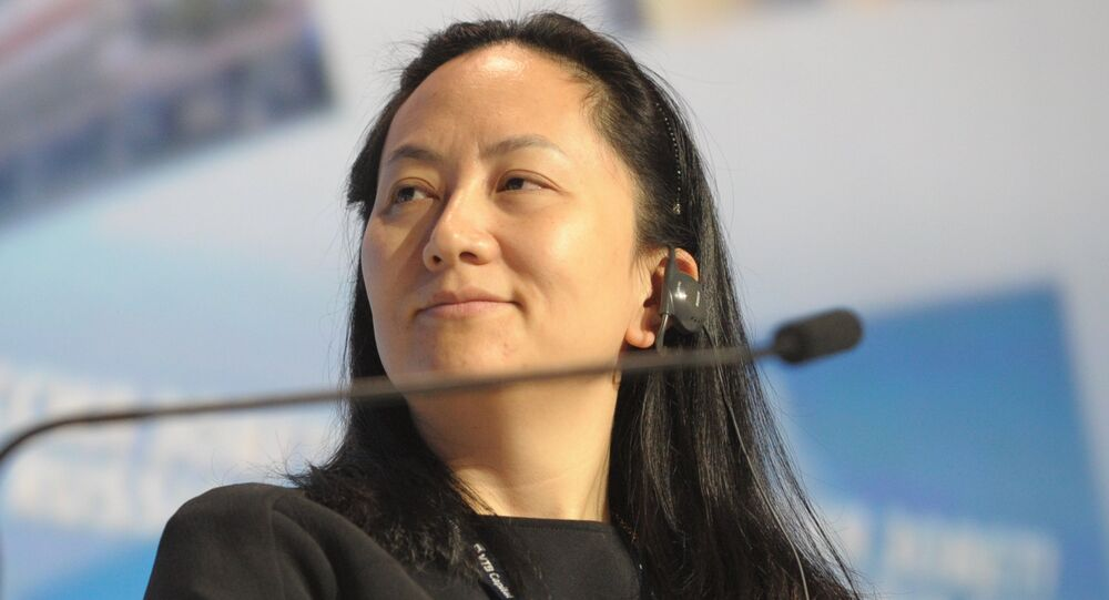 Meng Wanzhou, CFO of Huawei Technologies, attending the 6th Annual VTB Capital Investment Forum Russia Calling at Moscow's World Trade Center, 2 October 2014