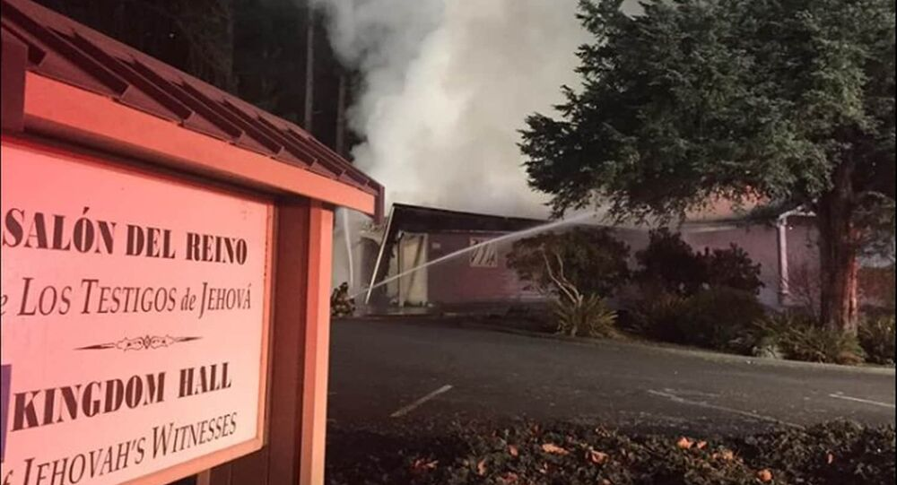 Authorities say the fire last week at a Jehovah's Witness prayer center in Washington state was intentionally set