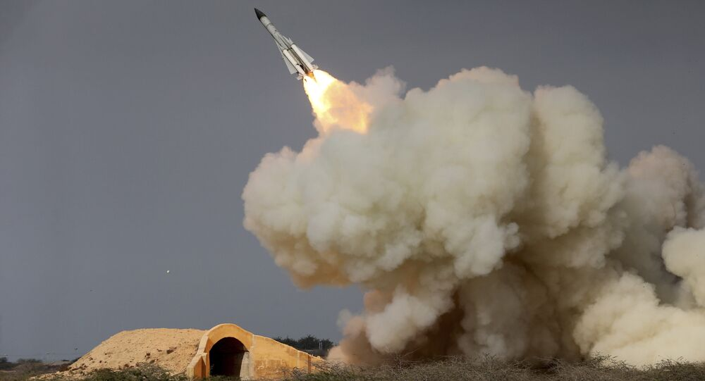 In this Dec. 29, 2016 file photo, released by the semi-official Iranian Students News Agency (ISNA), a long-range S-200 missile is fired in a military drill in the port city of Bushehr, on the northern coast of Persian Gulf, Iran