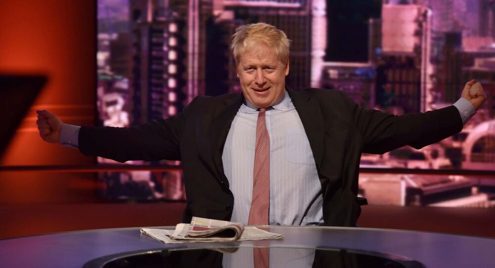 Britain's ex-Secretary of State for Foreign and Commonwealth Affairs Boris Johnson appears on BBC TV's The Andrew Marr Show in London, Britain, December 9, 2018