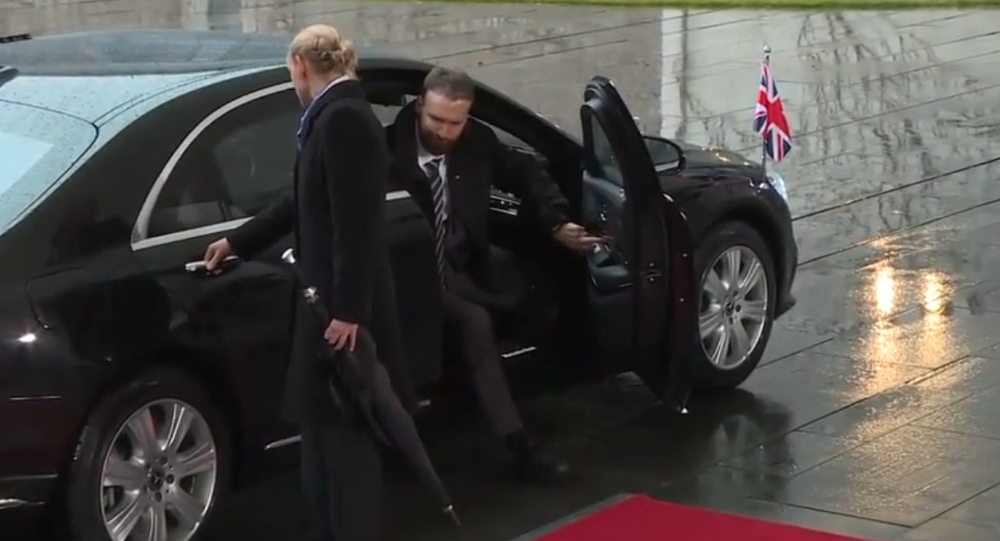 PM May Stuck in Her Car