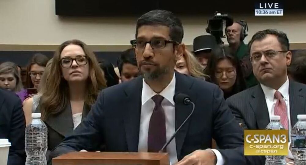 Google CEO Sundar Pinchai testifies before the U.S. Congress December 11, 2018.