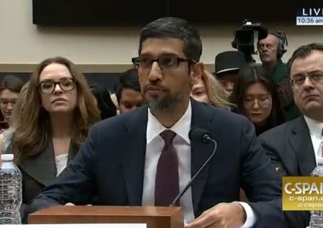Google CEO Sundar Pinchai testifies before the U.S. Congress December 11, 2018.