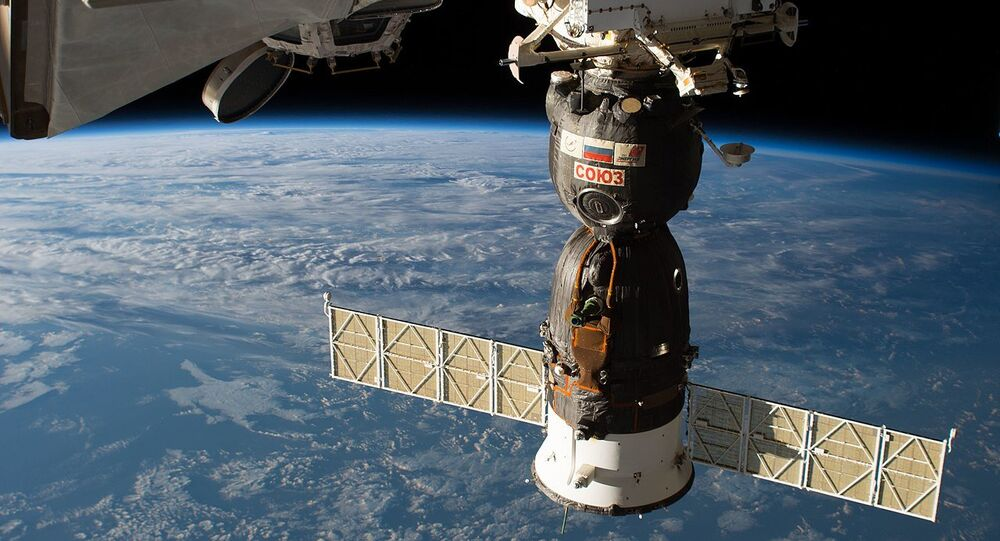 The Soyuz MS-09 spacecraft