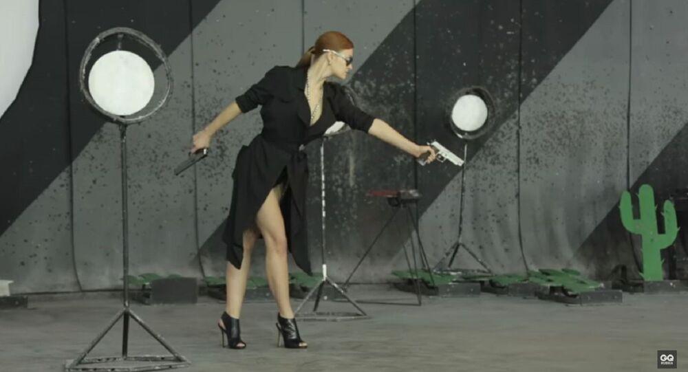 Mariia Butina as seen in a 2014 photo shoot for Russia's GQ magazine.