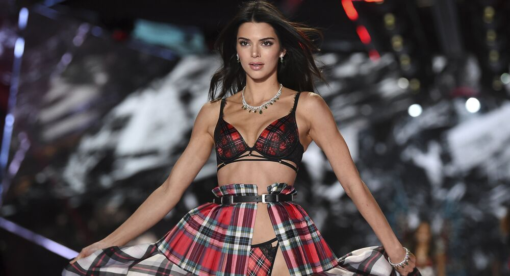 Model Kendall Jenner walks the runway during the 2018 Victoria's Secret Fashion Show at Pier 94 on 8 November 2018 in New York.