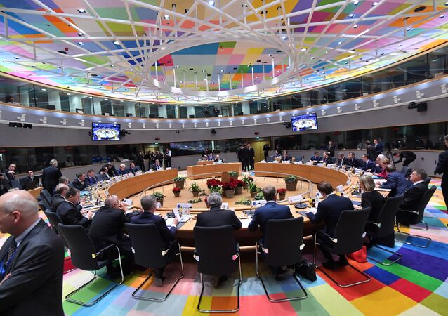 The European leaders meet during a European Summit aimed at discussing the Brexit deal, the long-term budget and the single market on December 13, 2018 in Brussels