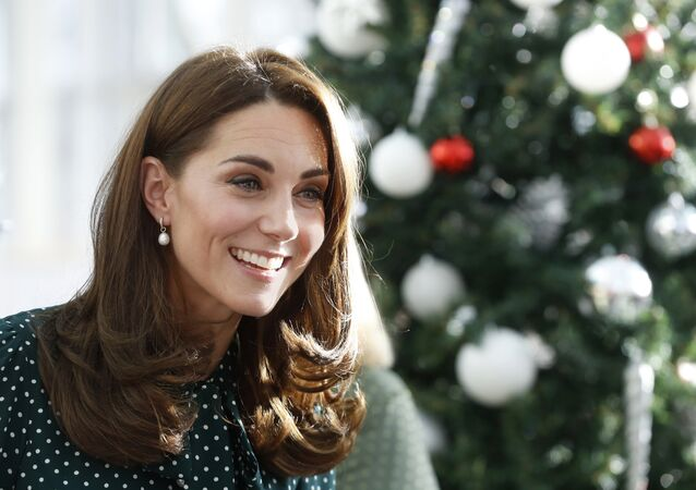 Britian's Catherine, Duchess of Cambridge during a visit with Prince William to Evelina London Children's Hospital in London, Tuesday Dec. 11, 2018. Evelina London, which is part of Guy's and St Thomas' NHS Foundation Trust, is preparing to mark its 150th anniversary in 2019. (Chris Jackson/Pool via AP)