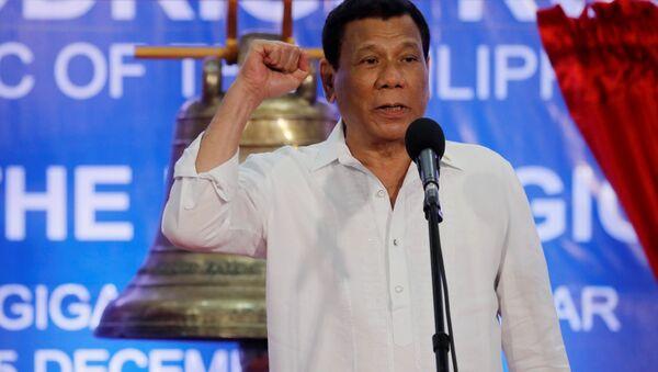 President Rodrigo Duterte speaks at a ceremony marking the return of the three Balangiga bells - Sputnik International