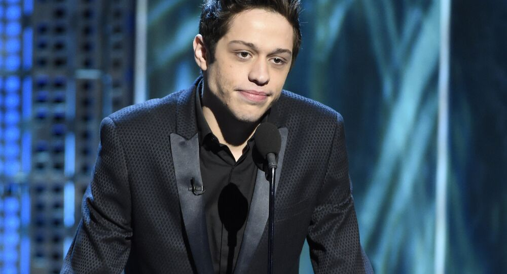 Pete Davidson speaks at the Comedy Central Roast of Justin Bieber at Sony Pictures Studios on Saturday, March 14, 2015