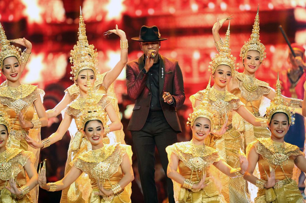 Singer Ne-Yo at the Miss Universe pageant in Thailand
