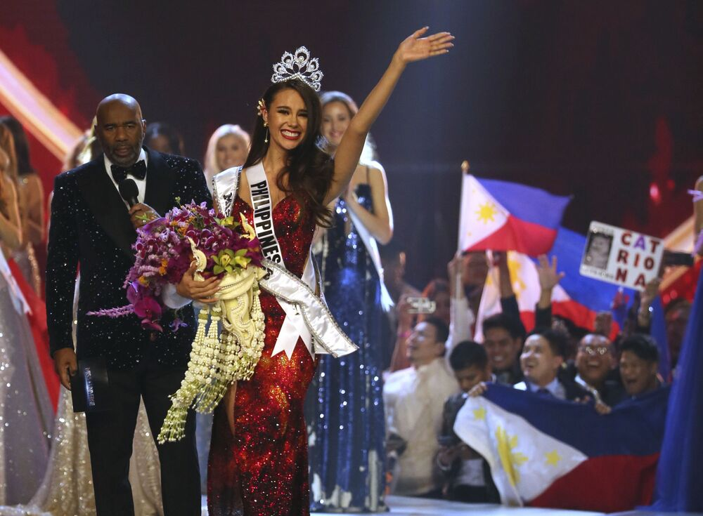 The Winner of the Miss Universe 2018 Contest Catriona Gray