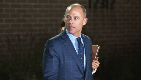Michael Avenatti leaves the Los Angeles Police Department's Pacific Division after being released from police custody following his arrest on a felony domestic violence charge, Wednesday, Nov. 14, 2018, in Los Angeles.  - Sputnik International