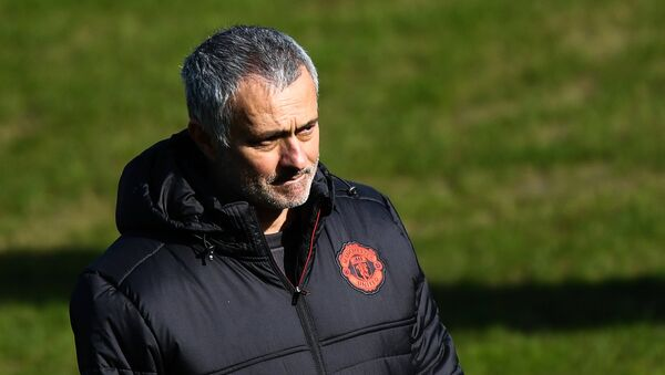 Manchester United's head coach Jose Mourinho during the training session ahead of the UEFA Europa League last 16 match between Manchester United and Rostov Rostov-on-Don - Sputnik International