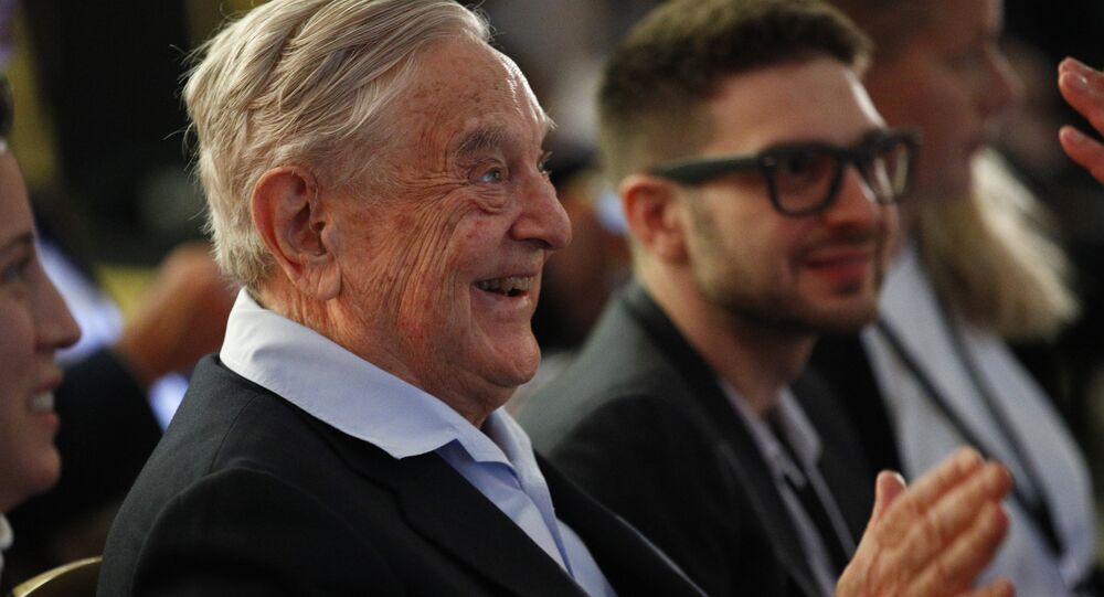 George Soros, Founder and Chairman of the Open Society Foundations, attends the European Council On Foreign Relations Annual Council Meeting in Paris, Tuesday, 29 May 2018