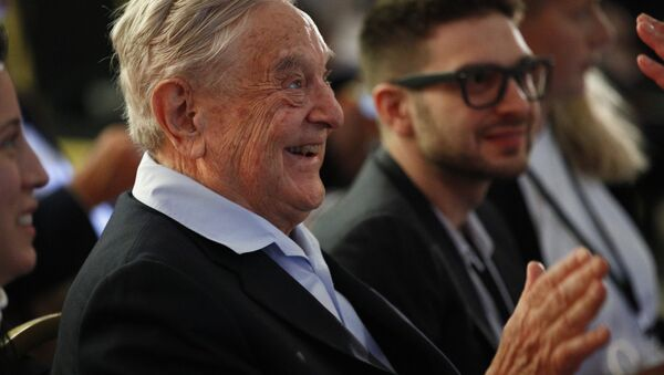 George Soros, Founder and Chairman of the Open Society Foundations attends the European Council On Foreign Relations Annual Council Meeting in Paris, Tuesday, May 29, 2018 - Sputnik International