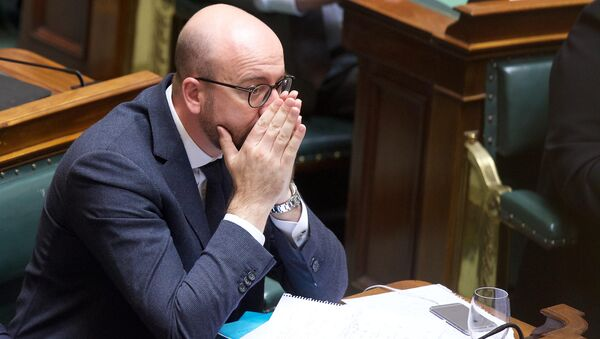 Belgian Prime Minister Charles Michel attends a plenary session of the Chamber at the federal Parliament, in Brussels, on March 24, 2016. - Sputnik International