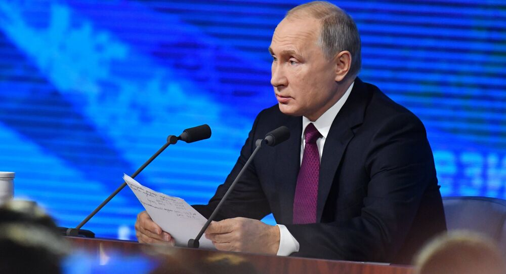 Annual big press conference of the Russian President V. Putin