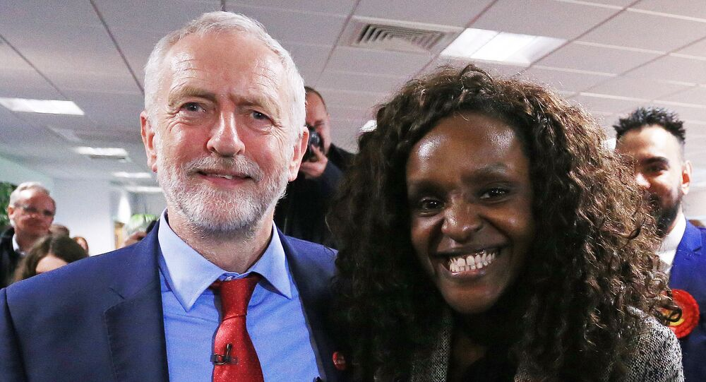 Fiona Onasanya, pictured with Labour Party leader Jeremy Corbyn, faces calls to resign