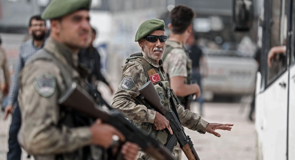 Members of the Turkish-backed Syrian forces