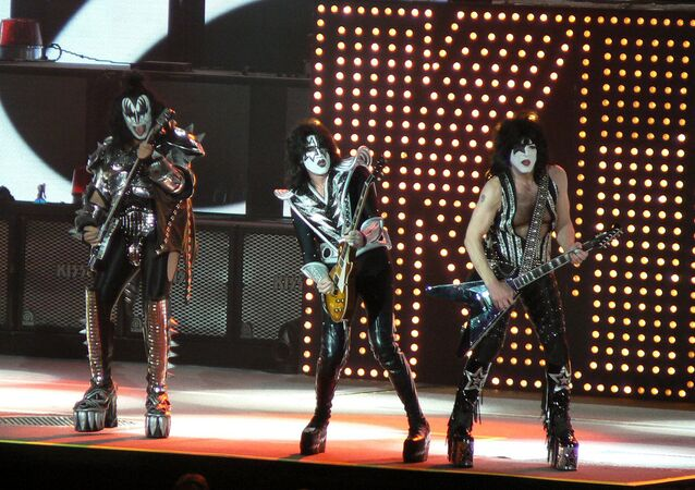 Kiss performing in Sacramento, California, in 2009
