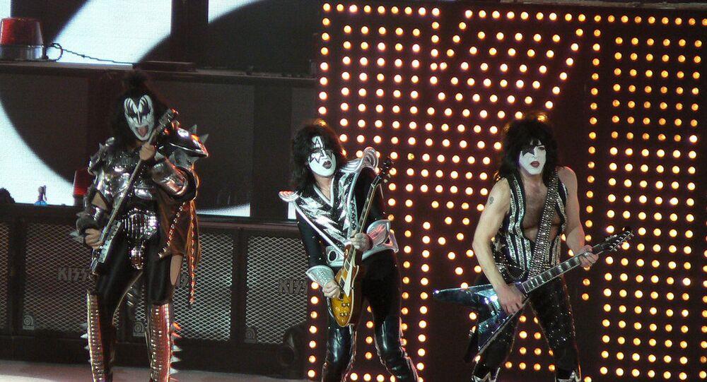 Kiss performing in Sacramento, California, in 2009