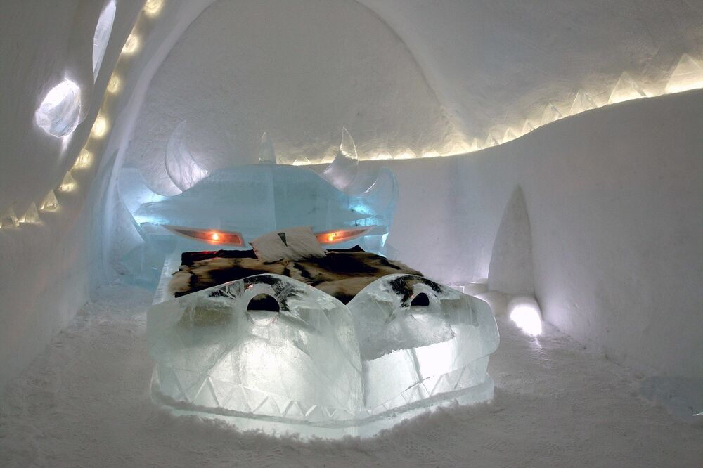 Icehotel in the Northern Swedish village of Jukkasjärvi