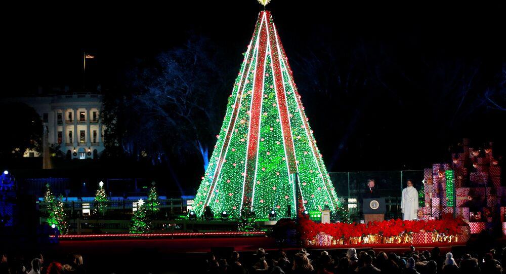 Annual National Christmas Tree Lighting Ceremony in Washington