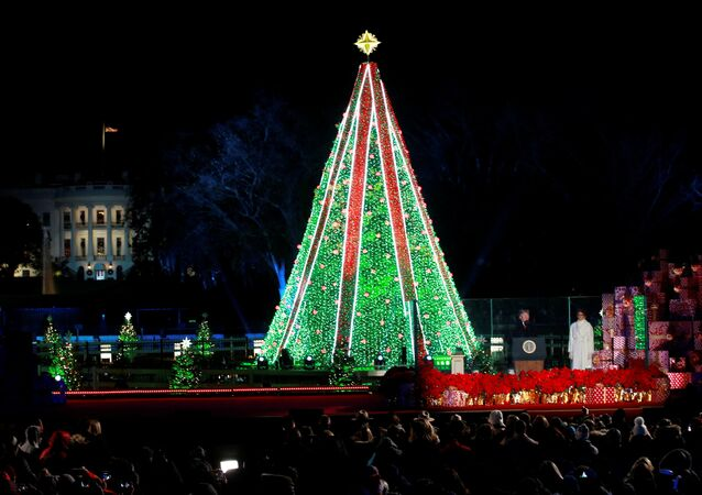 Annual National Christmas Tree Lighting Ceremony in Washington