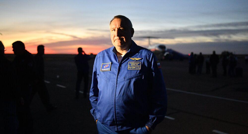 Dmitry Rogozin, the head of Russia's Roscosmos state corporation