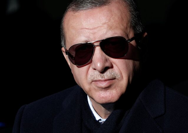 Turkish President Tayyip Erdogan is pictured during an opening ceremony in Istanbul, Turkey December 8, 2018
