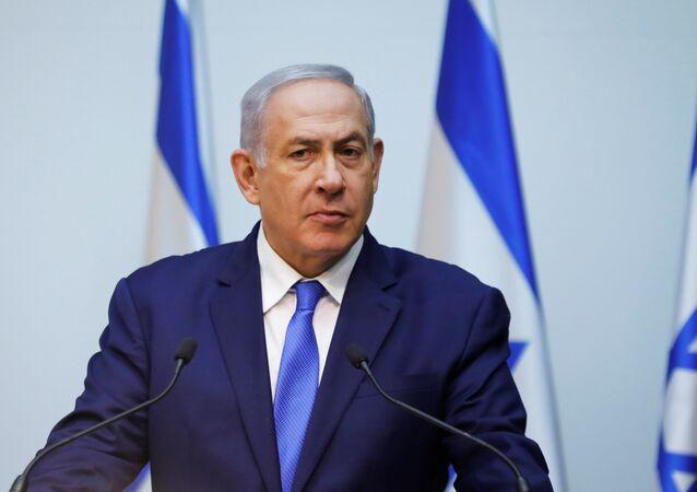 Israeli Prime Minister Benjamin Netanyahu speaks at the Knesset, Israel's parliament, in Jerusalem December 19, 2018
