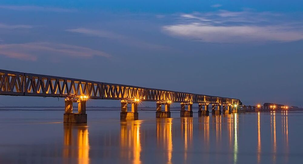 Bogibeel bridge is a combined road and rail bridge in the Dibrugarh district of the north eastern Indian state of Assam